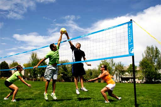Outdoor Game Rental Volleyball Badminton Denver Boulder Aurora Littleton Co