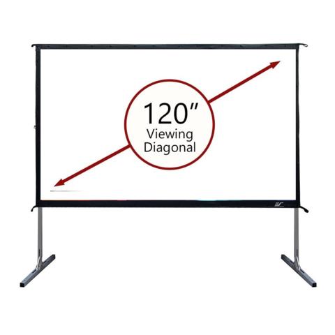 10 Foot Front Projection Screen, 16:9, Outdoor / Indoor