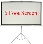 Front Projection Screen, 6 Foot Diagonal 16:9