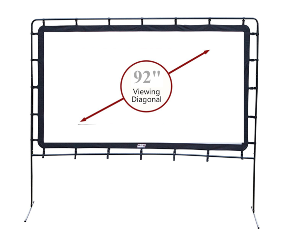 92 Inch Front or Rear Projection Screen 16:9, Outdoor / Indoor