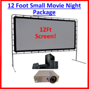 Medium Size 12' Indoor-Outdoor Movie Night (Optoma 1080p)