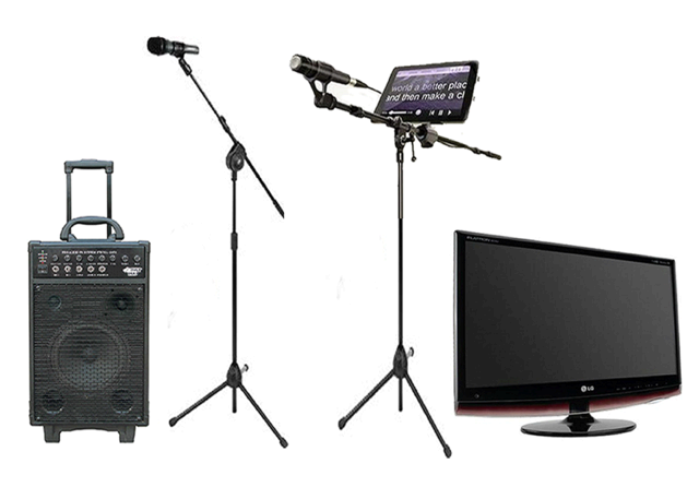 Digital iPad Karaoke Rental With 32 Inch TV, 800 Watts