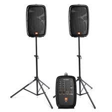 JBL Eon206P Pa System With Stands