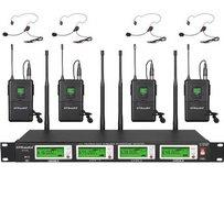 4 Channel Wireless Lavalier or Headset Microphone Rental