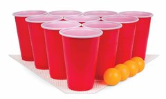 Four Beer Pong Balls and Twenty Cups