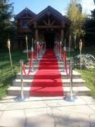 Tape Red Carpet Up Stairs - 3 Dollars Per Step