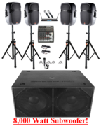Extreem Bass Package Large Pa System Rental