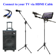 Digital iPad Karaoke Rental, 800 Watts