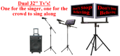 Digital iPad Karaoke Rental DUAL 32 Inch TV, 800 Watts