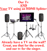 Mega Digital iPad Karaoke Rental AND Connect to YOUR tv ALSO with Wireless HDMI