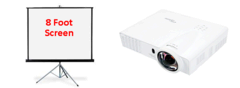 Optoma 3400 Lumens Projector and 8ft Screen Package