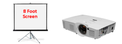 3600 Lumens Optoma Projector and 8ft Screen Package