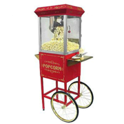 Vintage Popcorn Machine Cart 8oz