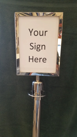 Portrait Sign Holder For Stanchions