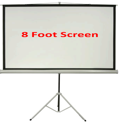 Indoor Tripod 8 Foot Front Projection Screen 16:9, 4:3