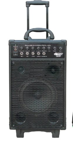 Battery Powered (or AC Powered) 800 Watt Portable Pa System