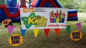 Kids Zone Banners, Cones, Roping, 2 Umbrellas  and 2 Tables
