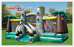 Jurassic Adventure Big Dinosaur Bounce House Rental- 35x35x16H