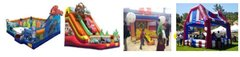 2. Kids Carnival Package -  Finding nemo playzone, Cars slide, Heavy hitter tee-ball, Carnival Booth w/12 games, 3 generators