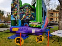 Teenage Mutant Ninja Turtles Bounce House Combo - 20x20x16 H
