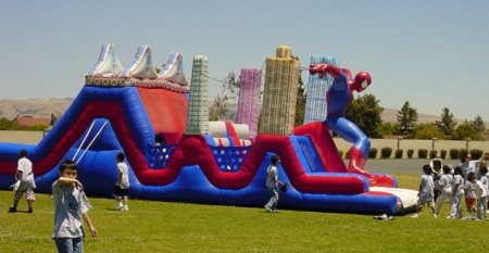 Spiderman Obstacle Course - 12wx40Lx16H
