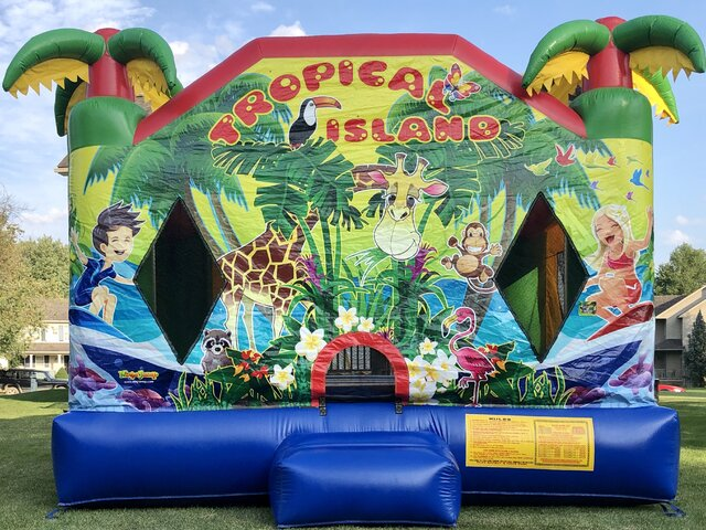 *Tropical Island Bounce House*