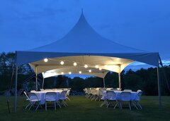 Tent Lighting (One String Per Tent)