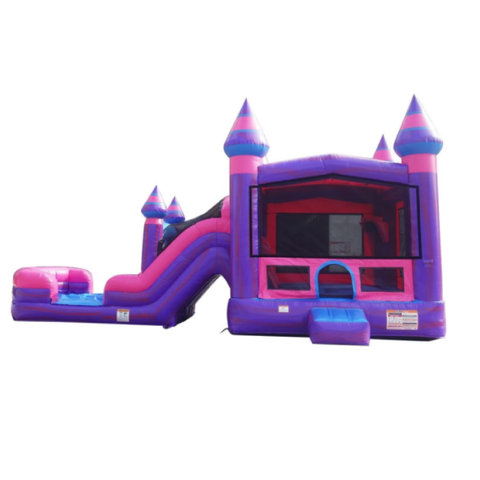 Pink Castle with Water Slide