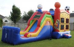 Sports Bounce with Water Slide