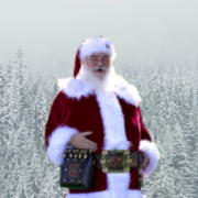 Christmas Photo Backdrops and Santa Claus