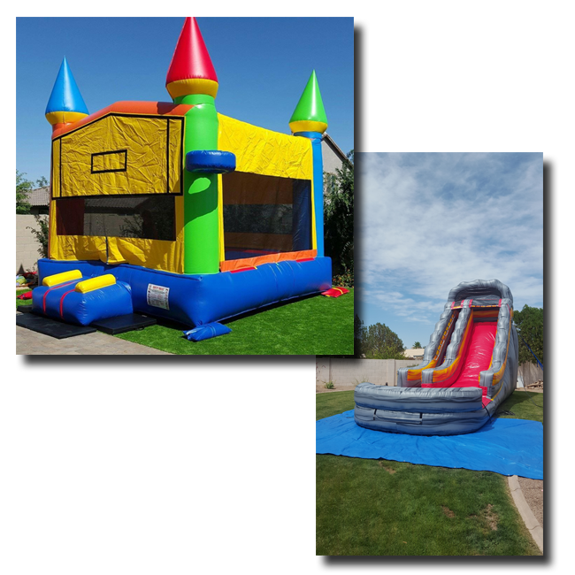 bounce house & inflatable water slide rentals in mesa az