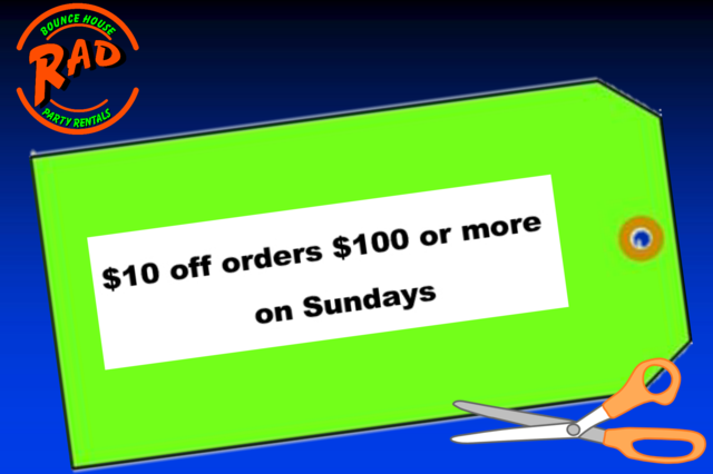 $10 off orders $100 or more on sunday