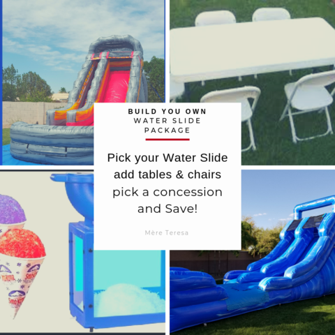 build your own water slide package