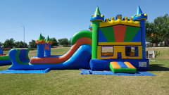 3n1 extra large water slide castle combo
