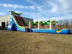 New! 22ft Extreme Tropical Double Lane Slide