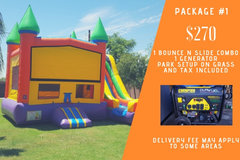 Bounce n slide combo park package 1
