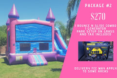 Bounce n slide combo park package 2