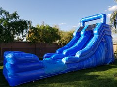 New! Blue Lagoon water slide