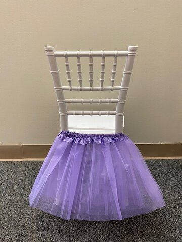 PURPLE TUTU FOR KIDS CHAIRS