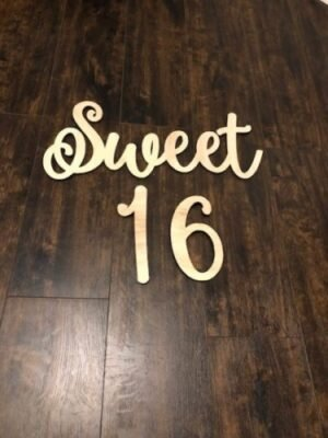 Sweet 16 Wood Hanging Sign