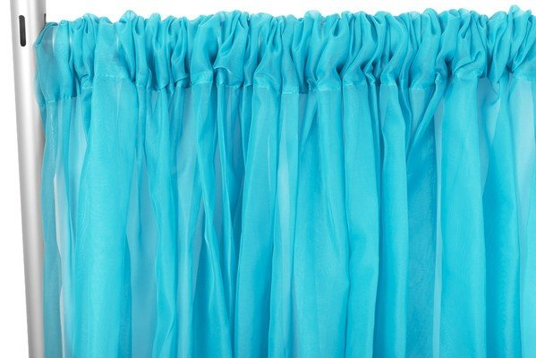 10FT AQUA BLUE SHEER PANELS