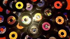 Nostalgic 45 Records Decor