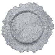 "13"" SILVER REEF ACRYLIC CHARGER PLATE"
