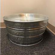 Large 15 Gallon Round Galvanized Drink Tub