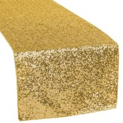 "GOLD SEQUIN TABLE RUNNER (12""X108"")"