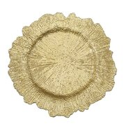 "13"" Gold Reef Acrylic Charger Plate"