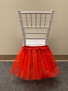 RED TUTU FOR KIDS CHAIRS