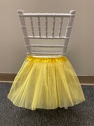 YELLOW TUTU FOR KIDS CHAIRS