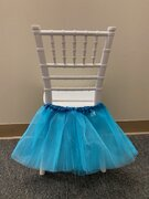 TURQUOISE TUTU FOR KIDS CHAIRS