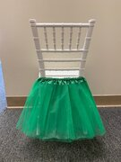 GREEN TUTU FOR KIDS CHAIRS